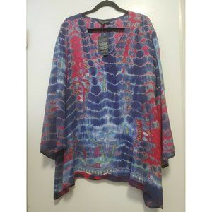 Greater Good Tie Dye Viscose Tunic Bell Sleeves